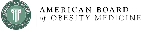 The American Board of Obesity Medicine logo.